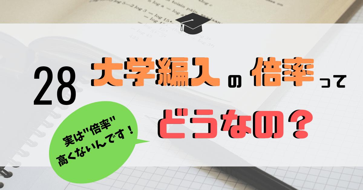 """""""大学編入の倍率""""に関する記事のアイキャッチ画像"""